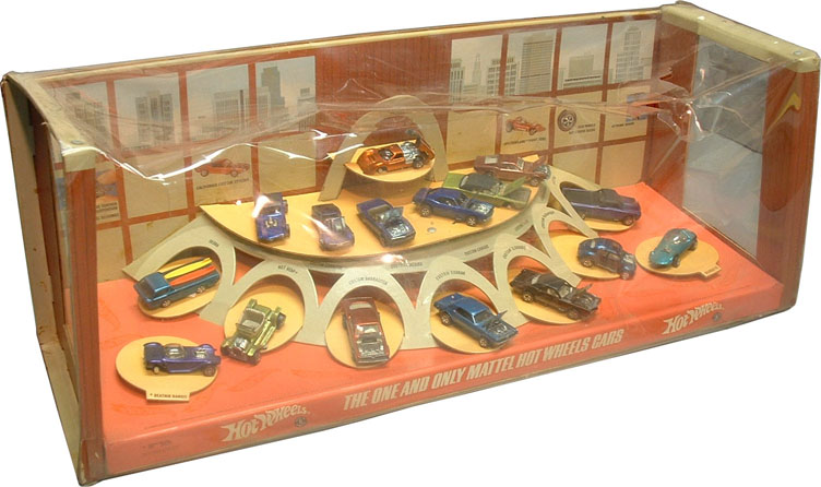 hot wheels store display 1968 image courtesy of bruce. Black Bedroom Furniture Sets. Home Design Ideas